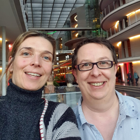 Svenja Stadler, MdB und Claudia Prössel
