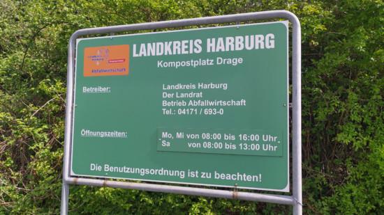 Eingang Kompostplatz Drage