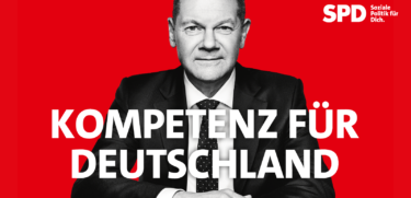 Banner Olaf Scholz