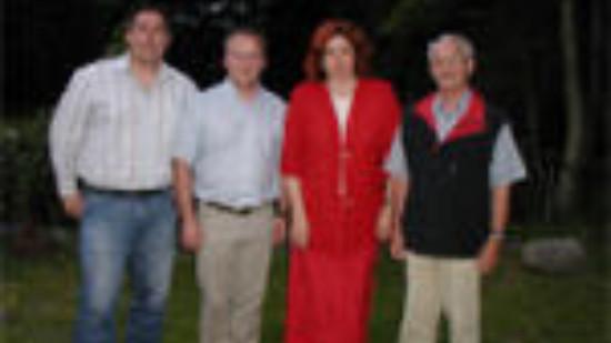 Stv. SPD-Ortsvereinsvorsitzender Holger Wloch, SPD-Fraktionsvorsitzender Dirk Oertzen, Monika Griefahn MdB, SPD-Ortsvereinsvorsitzender Uwe Scheuer