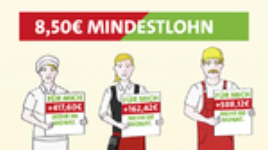 Banner Mindestlohn